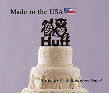 Sea Turtle, Owl Cake Topper Personalized Cake Topper with FREE ...