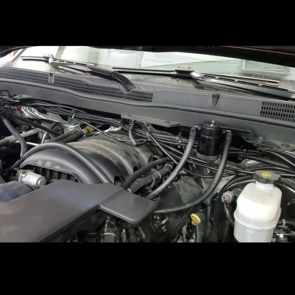 Black Anodized 2014-2019 GMC Sierra 1500 5.3; Chevy Silverado 1500 5.3 JLT Oil Separator 3.0 Driver Side