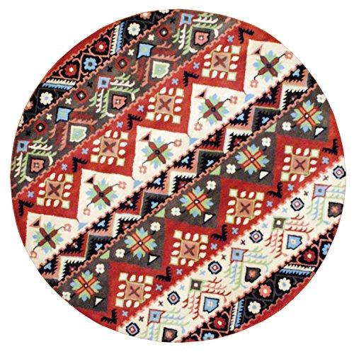 Herat Oriental Indo Hand-Tufted Tibetan Beige/Rust Wool Rug, 8