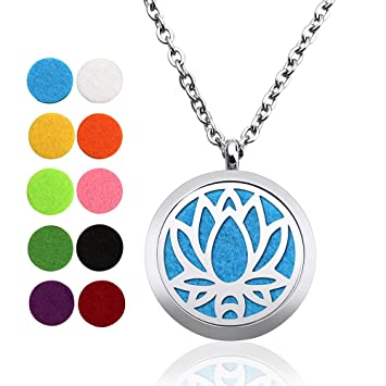 Amazoncom Gouraml Aromatherapy Essential Oil Diffuser Necklace