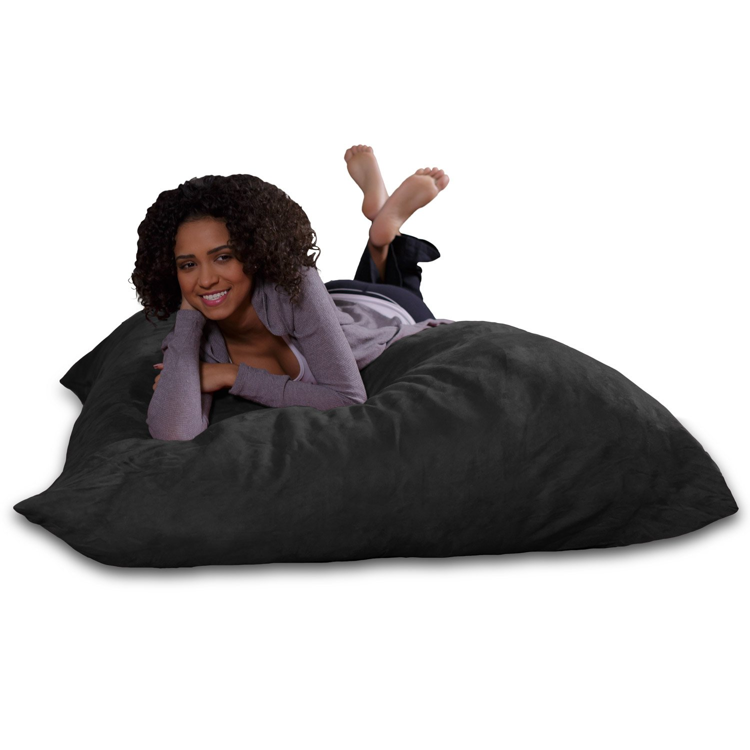 Sofa Sack - Plush, Ultra Soft Bean Bag Chair - Memory Foam Bean Bag Chair with Microsuede Cover - Stuffed Foam Filled Furniture and Accessories for Dorm Room - Charcoal by Sofa Sack - Bean Bags