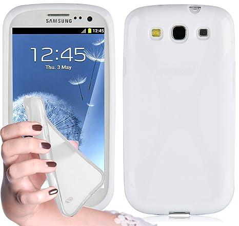 Cadorabo - Carcasa de silicona para Samsung Galaxy S3 / S3 Neo (magnesio), color blanco