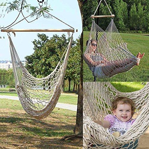 Zhansc Outdoor Indoor Hängesessel Hängenden Schaukel Baumwolle Seil Net Wiegen Kinder Erwachsene Schaukel Sitz Stühle