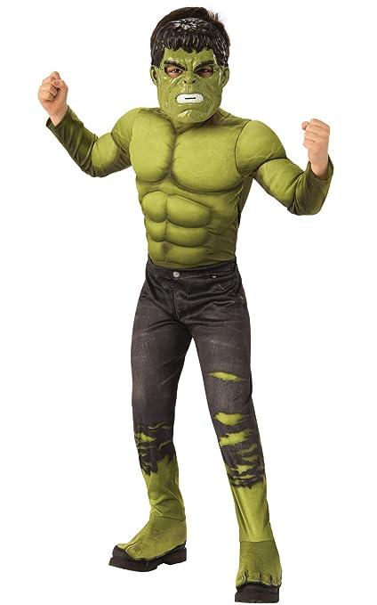 Rubies - Disfraz Oficial de Los Vengadores Endgame Hulk, Talla M, Edad 5 – 7, Altura 132 cm