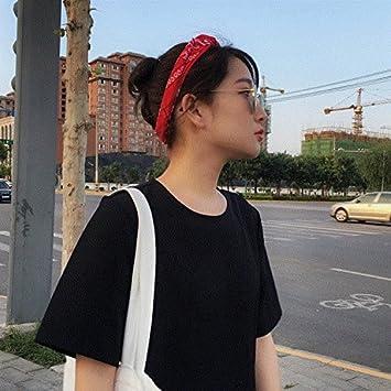 Amazon.com   fashion hair band tide male Korean alphabet wide-brimmed  headband headscarf hip-hop fashion hair bands female head ornament for  women girl lady ... f17e1afee7d
