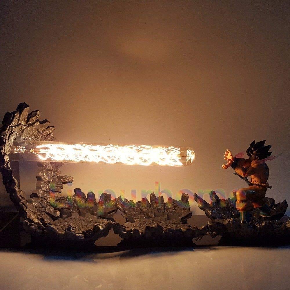 KAKALIN Dragon Ball Z Son Goku Kamehameha Attack Power Up Led Light Lamp Action Figure Whole Set