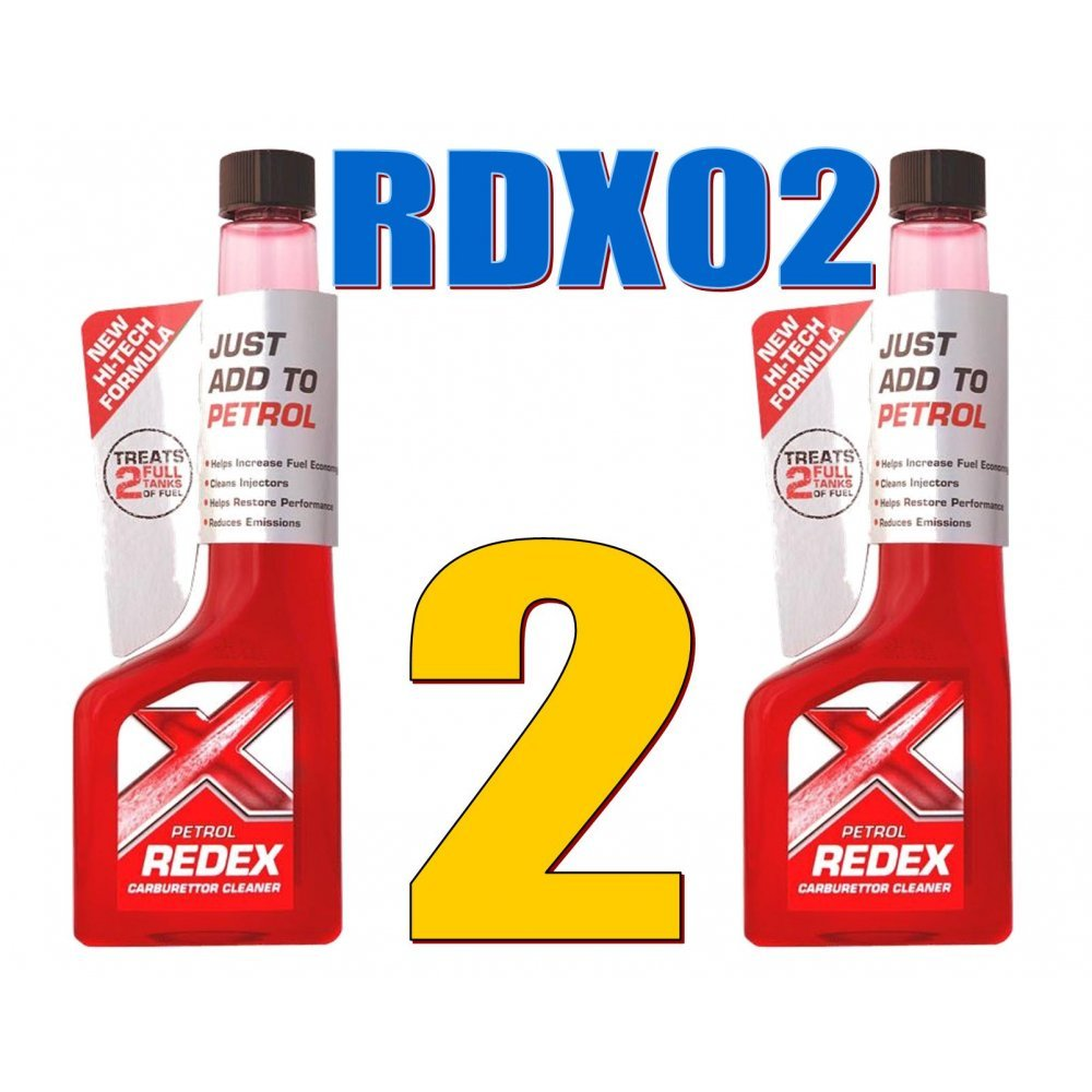 2 Redex Petrol (Carb) Treatment 250ml Safe For Catalytic Converters Cats RDX02