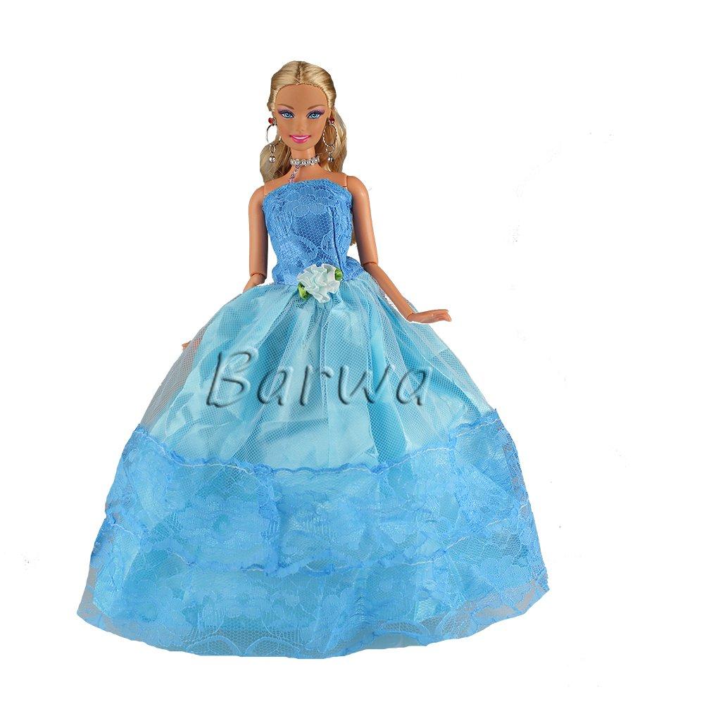 Barwa 3x Vestidos Princesa Novia Hermoso Ropas Vestir de Fiesta Boda ...
