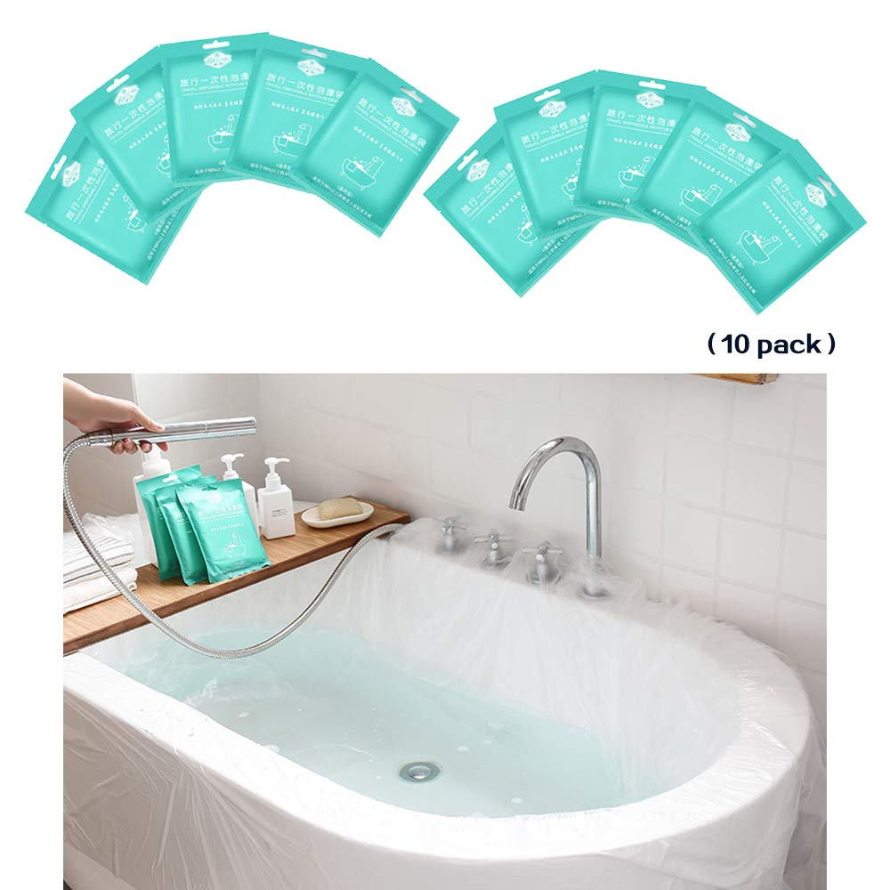 LUOSFUH Disposable Bathtub Bag Film 10 Pack Available Made of ...