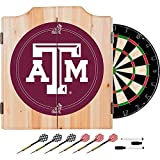 Texas A&M University Deluxe Solid Wood Cabinet Complete Dart Set - Officially Licensed!