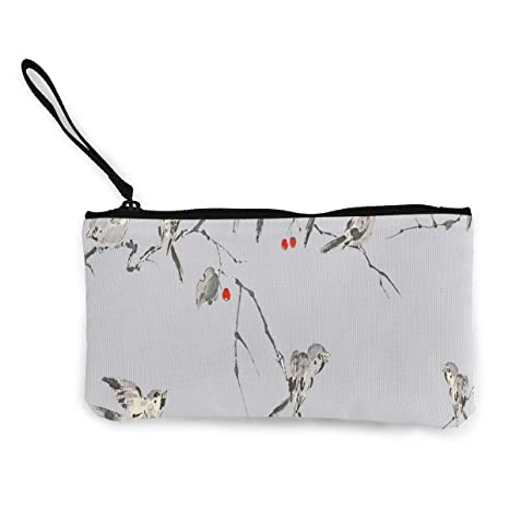 Amazon.com: Monedero con diseño de pájaros para mujer, con ...