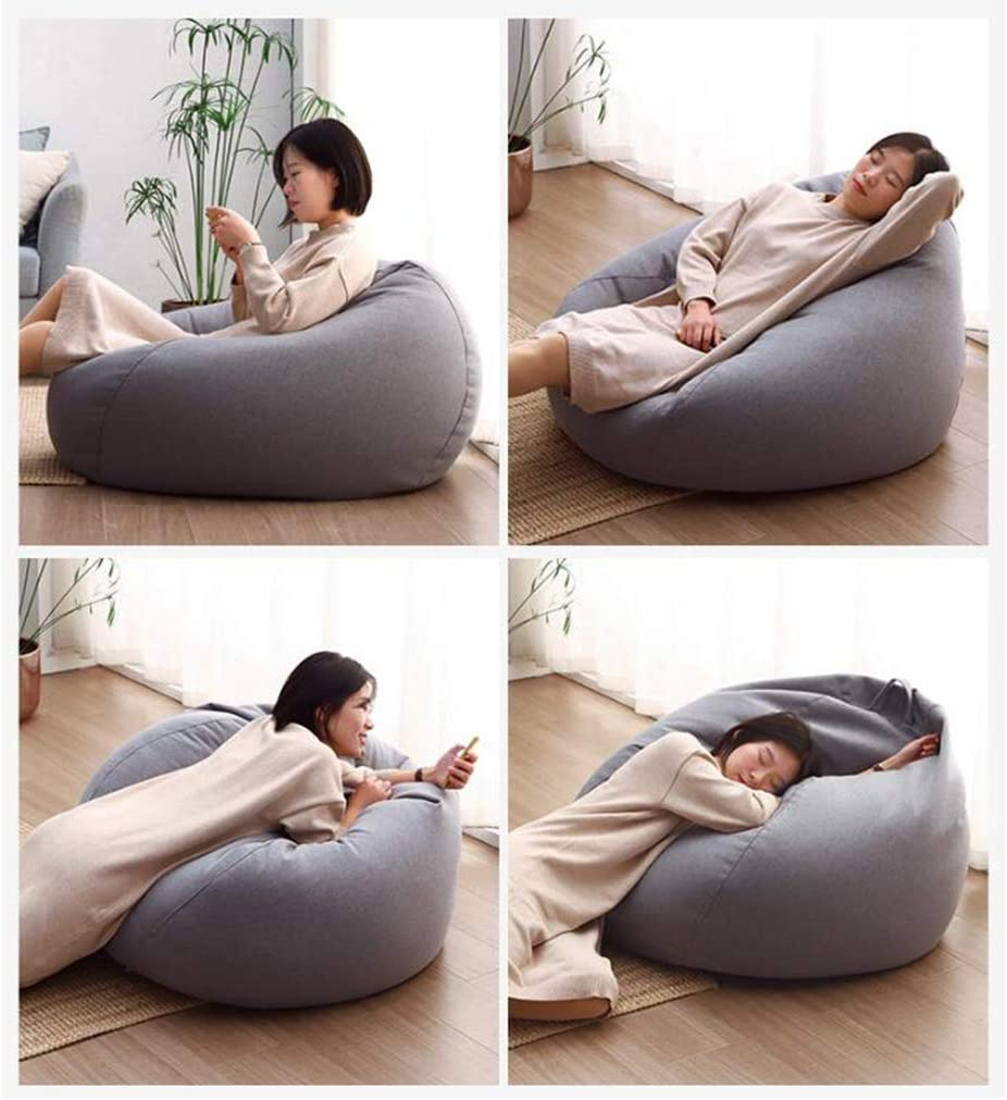 TeeBetter Bean Bag Chair Soft Memory Foam Furniture Bean Bag with Linen Cover