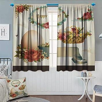 amazon com anhounine easter blackout curtain romantic flower filled rh amazon com