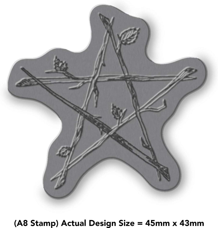 Azeeda A7 Pentagram of Sticks Unmounted Rubber Stamp RS00001351