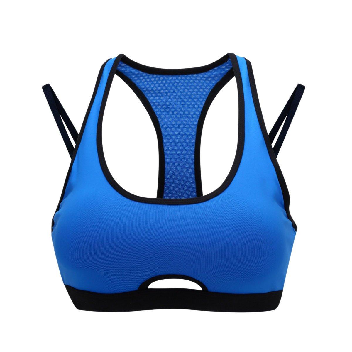 Jfin Mujeres Suéter Sujetador Spandex Espalda Cruzada De Software Inalámbrico Rosa Indy Pro
