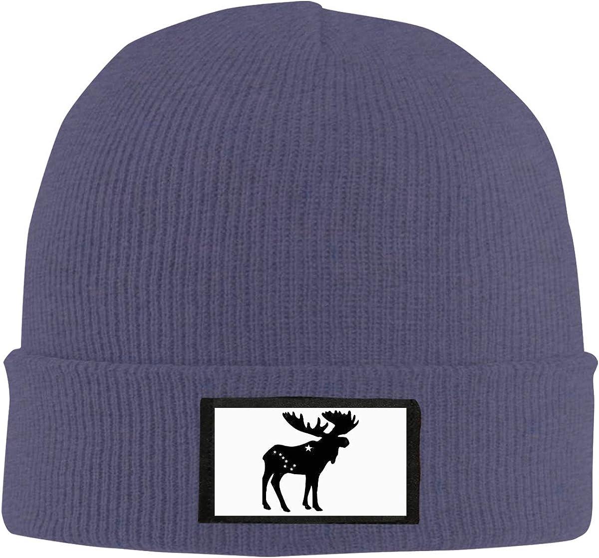 CKKSMZMZ Unisex Warm Winter Hat Knit Beanie Skull Cap Cuff Beanie Hat Alaska Flag