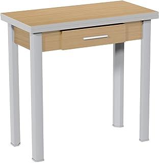 Mesa cocina Refez cristal templado 6mm blanco 74x70x70 ...