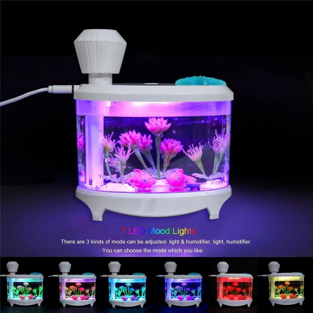 US $39.72 |Humidifier Home Air Fish Tank Humidifier Usb Air Diffuser Ultrasonic Humidifier Led Office LED Mist Maker Timing Difusor|diffuser