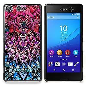 For Sony Xperia M5 - Art Deco Pattern Royal Purple Pink Blue /Modelo de la piel protectora de la cubierta del caso/ - Super Marley Shop -