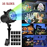 KOOLSEN Led Christmas Light Projector - 2017 Newest Version Bright Led Landscape Spotlight with 16 Slides Dynamic Lighting Landscape Led Projector Light Show for Halloween, Party, Holiday Decoration