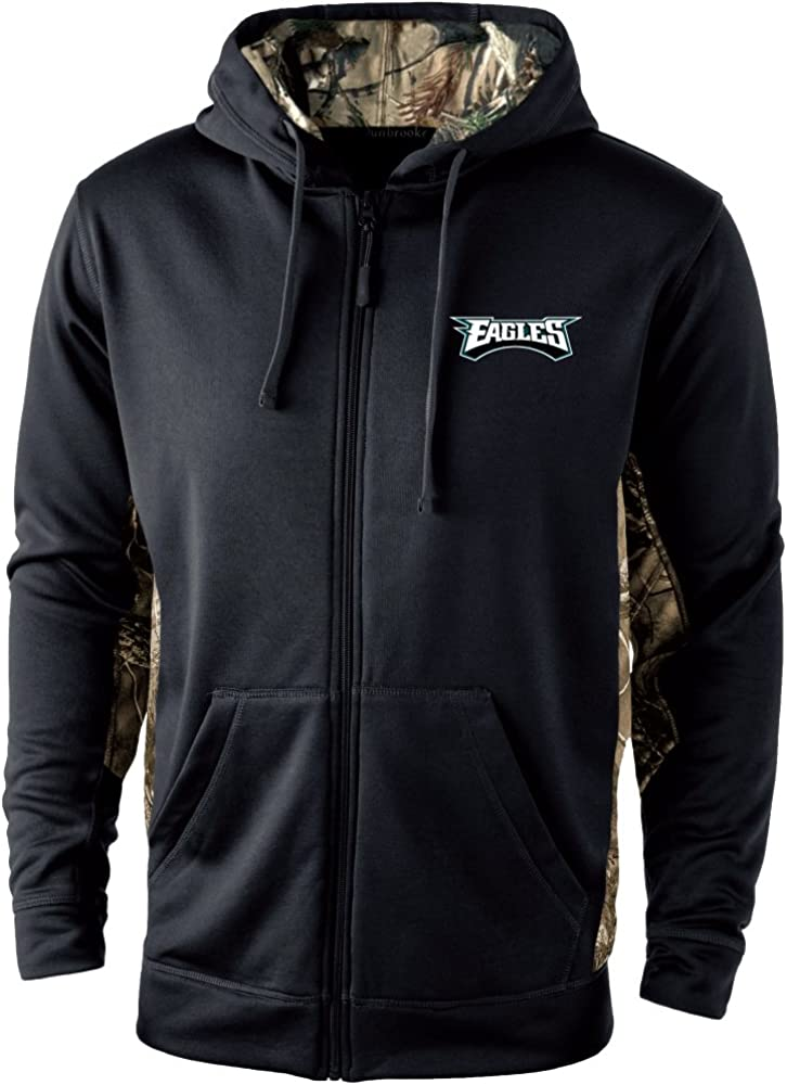Dunbrooke Apparel Mens Decoy Camo Accent Fullzip Tech Fleece