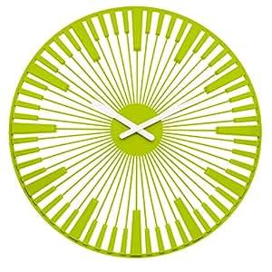 koziol PIANO Wall Clock, mustard green
