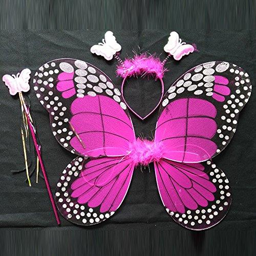 Realistic Angel Wings Costume (Damjic Halloween Costumes Butterfly Wings Suits Angels Butterflies Wings 4535CM C)