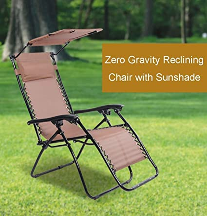 Sensational Amazon Com Dqchair Outdoor Deck Chair With Canopy Zero Inzonedesignstudio Interior Chair Design Inzonedesignstudiocom