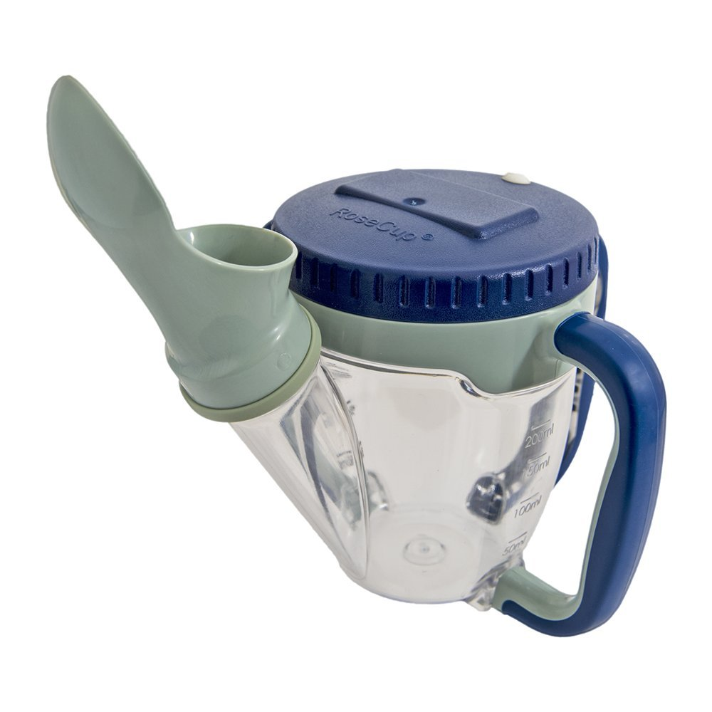 Dysphagia Cup with Spoon - Clear