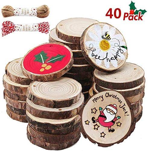 Natürliche Holzscheibe Baumscheibe zum Basteln Dekorieren Weihnachten Party