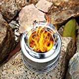 Cido Outdoor wood stove stove picnic stainless steel high-foot wood stove barbecue stove wood charcoal solid alcohol stove Review