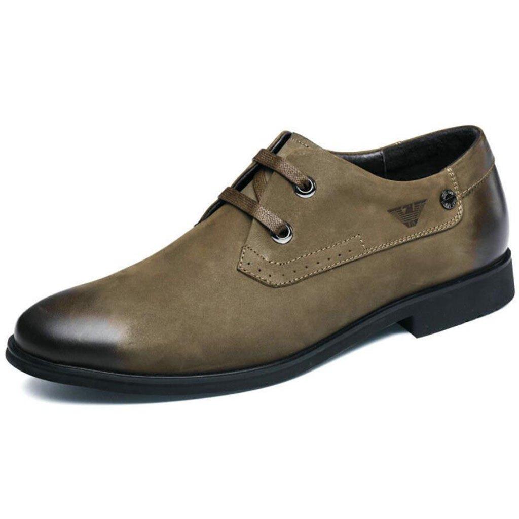 GAOLIXIA Herren Leder Geschäft Schuhe Derby Schuhe Mode High-End-flache Freizeitschuhe britischen Stil Kleid Hochzeit Bankett Schuhe Arbeit Karriere Schuhe