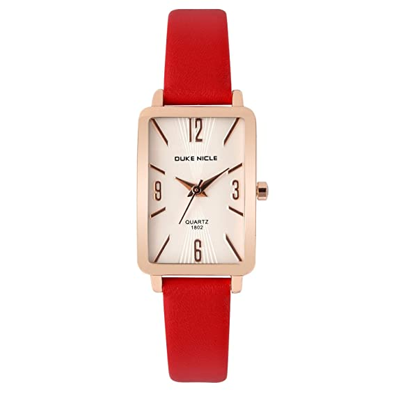 Womens Fashion Watch,Ladies Rose Gold-Rectangular Case Luxury Elegant Dress Waterproof Quartz Casual
