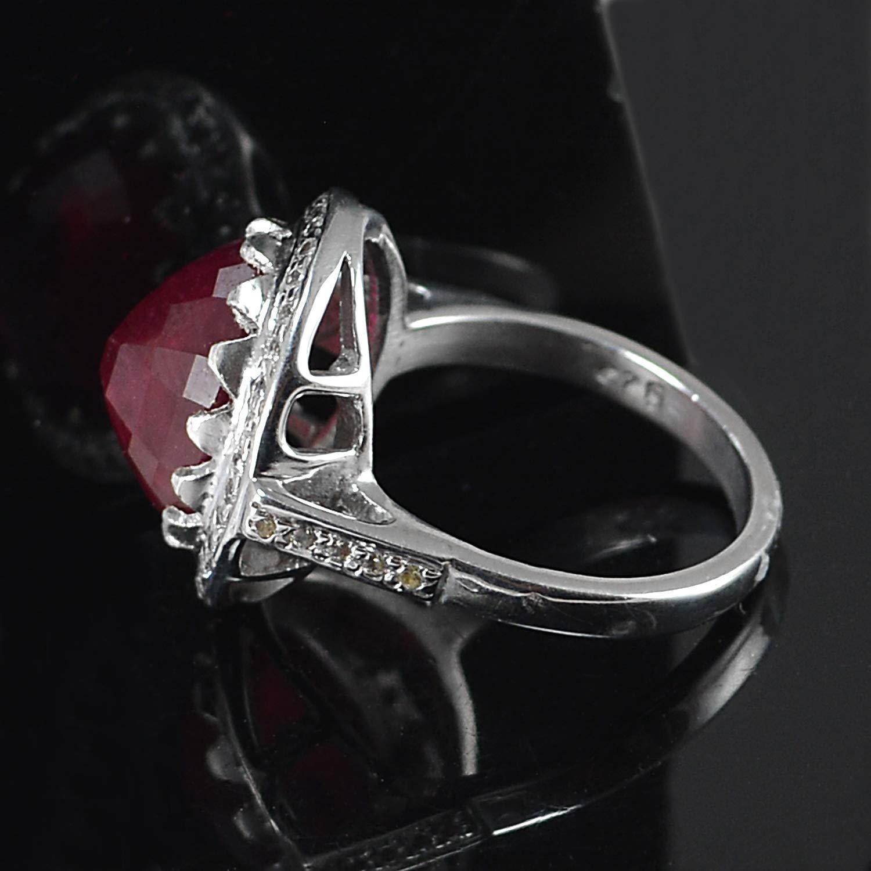 Saamarth Impex Ruby Gemstone 925 Sterling Silver Ring Sz 6.5 PG-155778