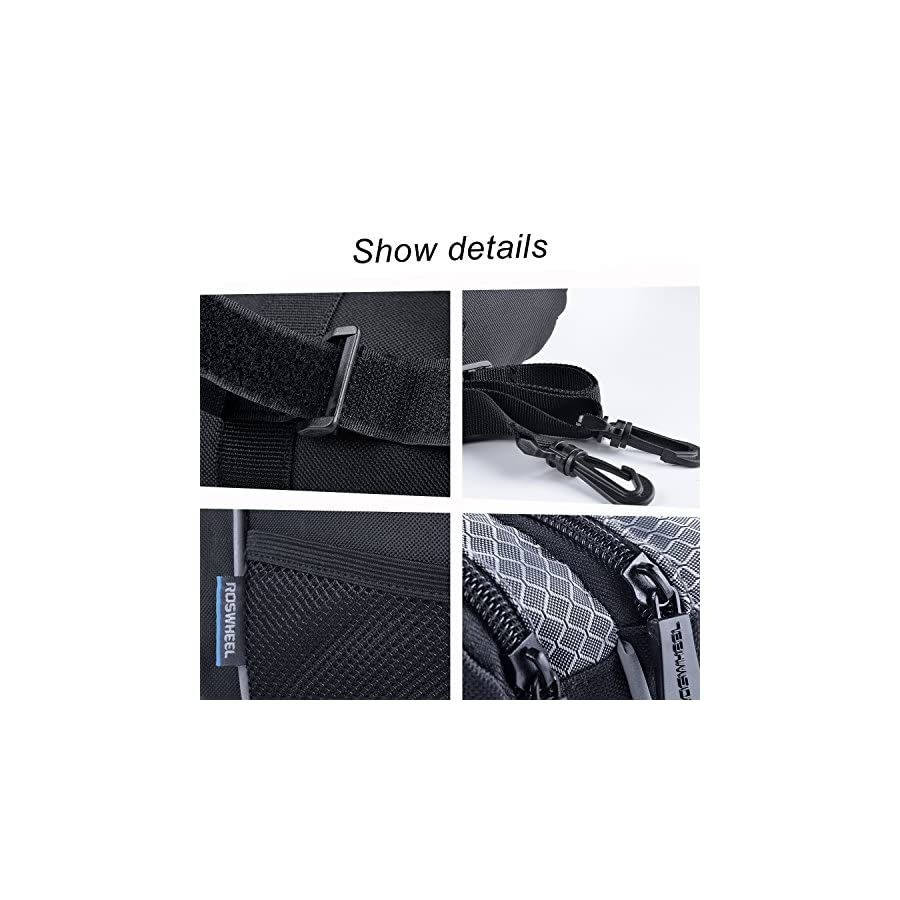 Roswheel Bike Bicycle Handlebar Front Bar Bag Basket Top Frame Pouch Front Pannie Cycling Bag