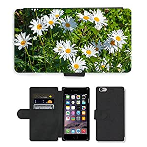 PU Cuir Flip Etui Portefeuille Coque Case Cover véritable Leather Housse Couvrir Couverture Fermeture Magnetique Silicone Support Carte Slots Protection Shell // M00158315 Margarita margaritas blanca belleza // Apple iPhone 6 4.7""