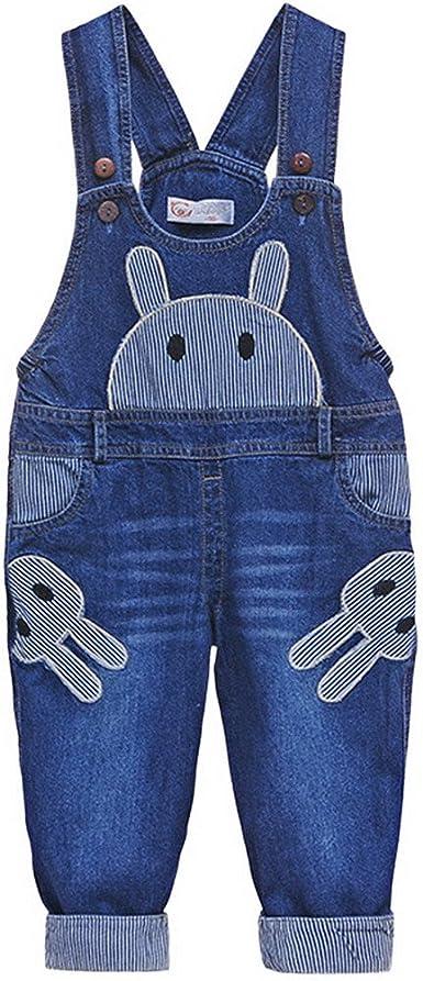 Happy Cherry Cartoon Pantalon Largo De Peto Pantalones Vaqueros Mono Ropa De Una Pieza Jeans Para Bebes Ninos Ninas Talla 100 Amazon Es Ropa Y Accesorios