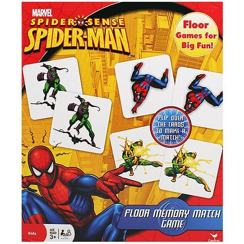 Marvel Spider-Sense Spider-Man Floor Memory Match Game,54 memory match cards (Spider Match)