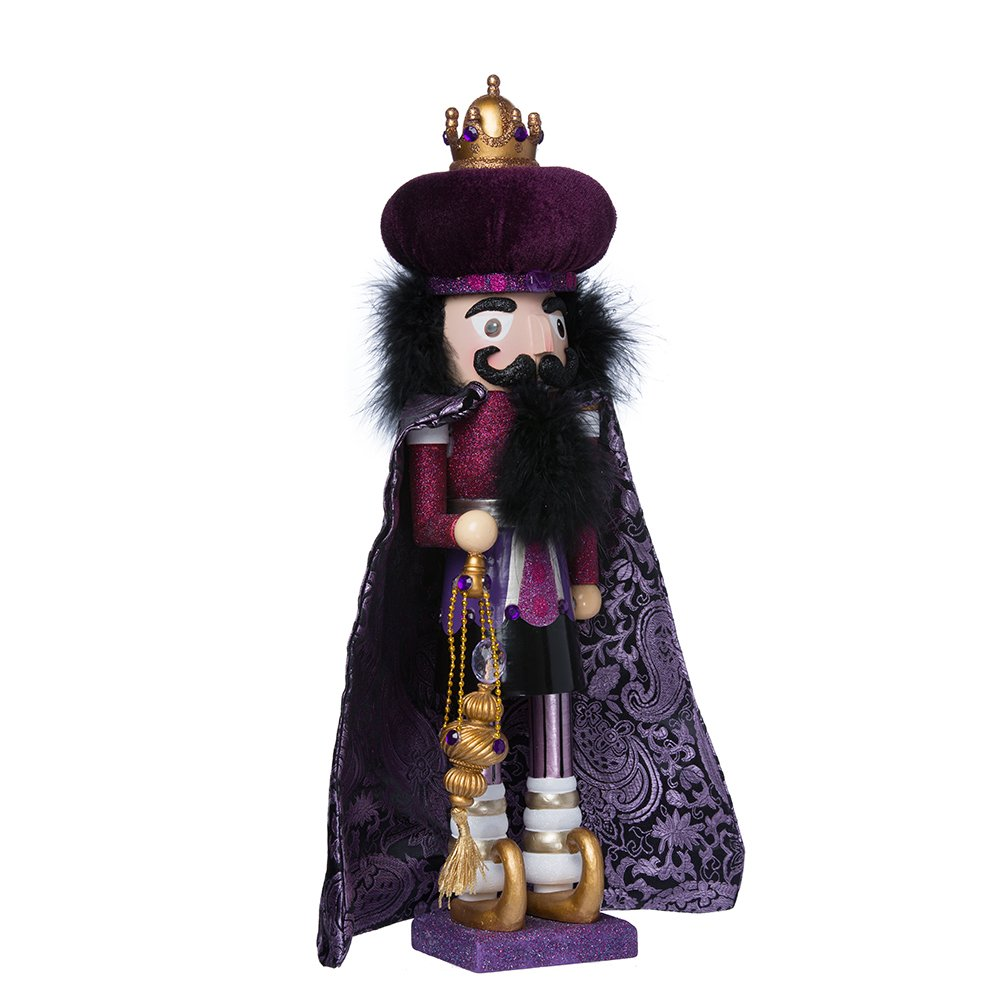 Hollywood Nutcrackers Kurt Adler Hollywood King Nutcracker, 18-Inch, Purple by Hollywood Nutcrackers