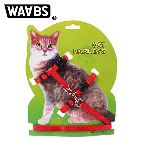 Waabs Arnés para gato con collar ajustable de nailon y correa ...