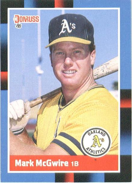 Amazoncom 1988 Donruss 256 Mark Mcgwire Oakland Athletics