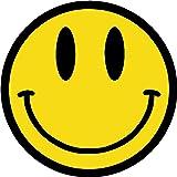 (3 PACK) Smiley Face Emoji circle vinyl Hard Hat Helmet