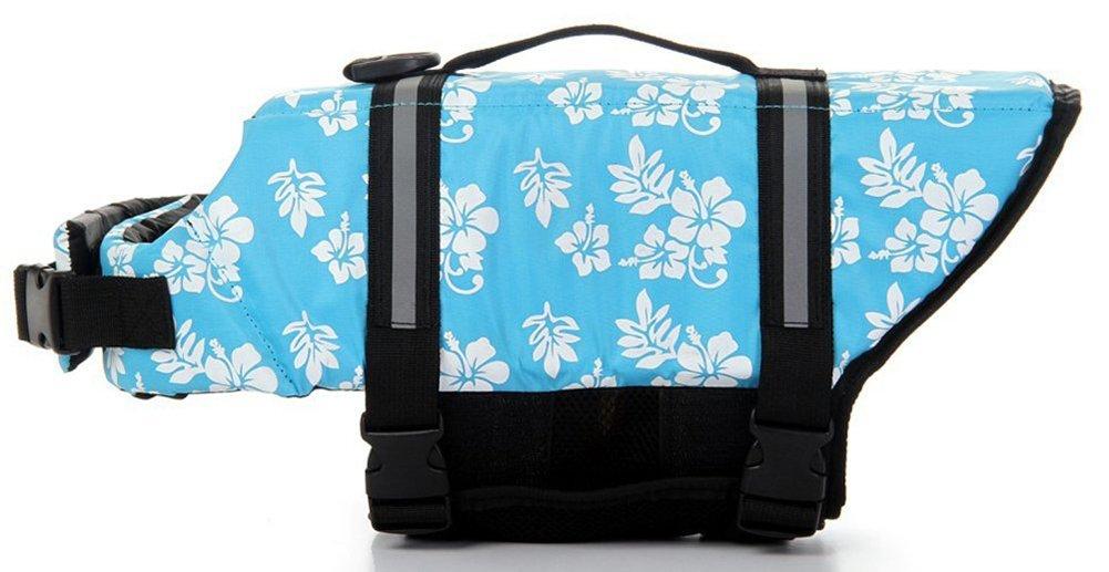 Dog Life Jacket Blue Bone,XXL Rdc Pet Swim Safety Coat Floatation Life Vest for Small Medium Large Dog