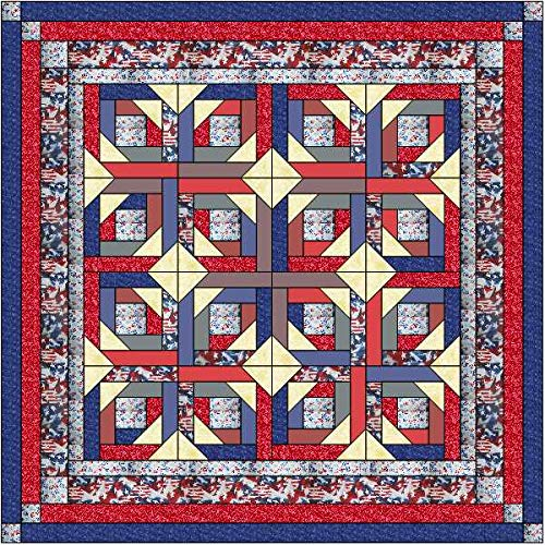 Quilt Kit Patriotic Fouth of July, Red White and Blue - Patriotic Quilt Fabric