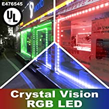 Crystal Vision Korean Genuine 5050 Bright LED Module Store Front Window Kit / Plug-in and Play Pre-installed/ 100W Made in Korea w/ Warranty (RGB 50ft) by Crystal Vision
