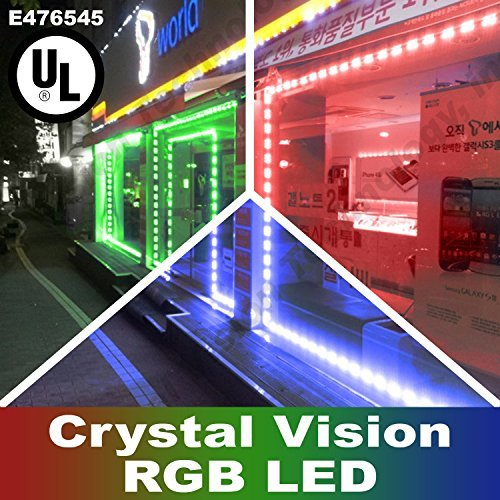 Crystal Vision Korean Genuine 5050 Bright LED Module StoreFront Window Kit / Plug-in and Play Pre-installed/ 50W Made in Korea w/ Warranty (RGB 25ft) by Crystal Vision
