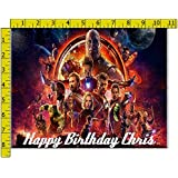 Infinity War Characters Personalized Birthday Edible Frosting Image 1/4 sheet Cake Topper
