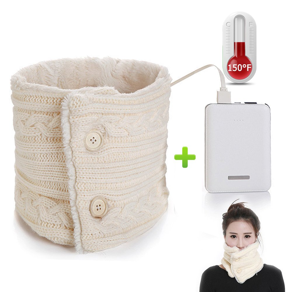 Heated Neck Scarf, Electric Heating Winter Scarf With 5000 MA Power Bank B-HTD-SC-W