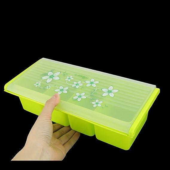 uxcell plástico diseño de flores Home condimento sal pimienta Especias Dispensador de almacenamiento Caja: Amazon.es: Hogar
