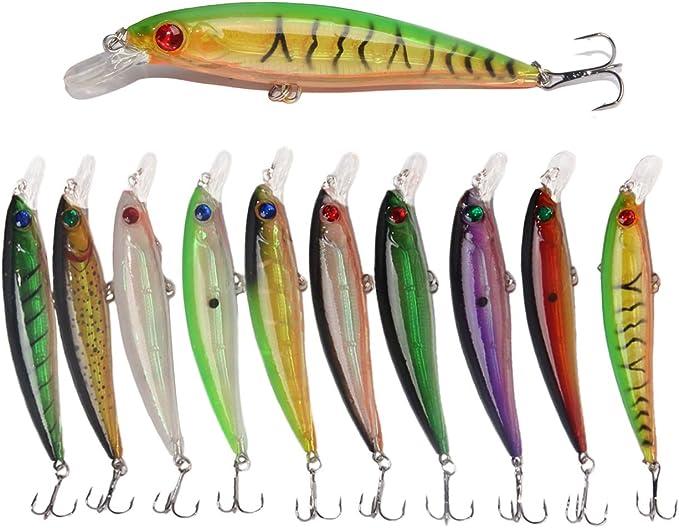 "2 PCS 2/"" Powerful Bass Minnow Bait Fishing Crankbaits Swim Shad Lure Hook Tackle"